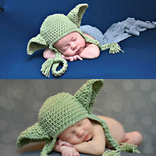 New Design Winter Cute Knitting Woolen Yarn Baby Kids Star Wars Elf Earflap Hat