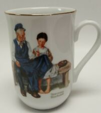 """Norman Rockwell Collectible Coffee Tea Cup Mug """"The Lighthouse Keepers Daughter"""