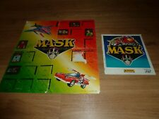 ALBUM PANINI MASK 1986 incomplet + poster