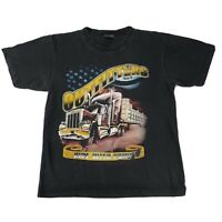 Outfitters Ride With Pride Americans Trucker Black T-shirt Tee Size L