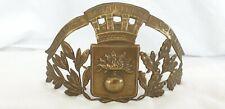 Ancienne plaque de casque de sapeur pompier, de C.U. de LILLE