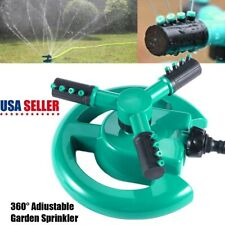 360°Rotating Lawn Sprinkler System Automatic Grass Watering Spray Irrigation New