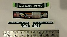 Reproduction replacement lawn boy junior 4 piece decal set solid state 21 inch.