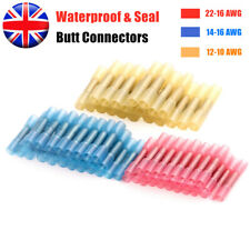 Waterproof Heat Shrink Wire Cable Connectors Crimps Seal Butt Joint Sleeve 200PC