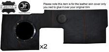 ORANGE STITCH 2X FRONT DOOR CARD TRIM LEATHER COVERS FITS RENAULT ALPINE GTA V6