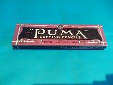 12 pcs VINTAGE ENGLAND CUMBERLAND-PUMA--COPYING PENCILS  in BOX-NEW--RARE