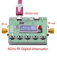 OLED 6G Digital Programmable Attenuator 30DB step 0.25 RF Module + Micro USB stp