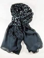 NEU 190x90cm XL SCHAL in schwarz-grau ANIMAL Muster LANGSCHAL Stola HALSTUCH