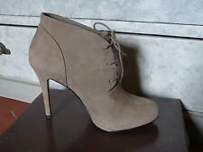 CHAUSSURES MINELLI BEIGE / GRIS TAUPE T F 38 I 37 ETAT NEUF AVEC BOITE