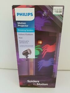 Philips Halloween Motion Projector Multi Color Rotating Spider Indoor/Outdoor