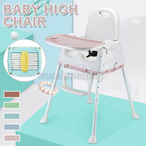 Baby Toddler High Wood Chairs W/ Tray Adjustable Safe Highchair Feeding Dining