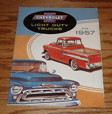 1957 Chevrolet Light Duty Truck Foldout Sales Brochure 57 Chevy Pickup
