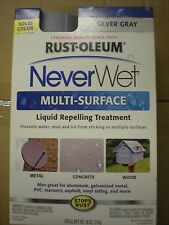 NeverWet Never Wet Rust-Oleum 18 oz. CHOOSE: Silver Gray or Bright White