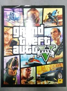 GRAND THEFT AUTO V FIVE 5 DOUBLE SIDED POSTER PROMOTIONAL ROCKSTAR GAMES