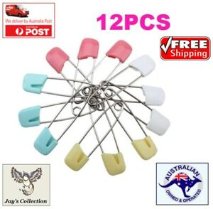 12Pcs Large Nappy Safety Pins Baby Care Craft Scrapbook Sewing Diaper [B1C2~B22]