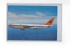 """Hapag-Lloyd airlines issued Airbus A300 B4  5 3/4"""" x 8 1/4"""" info postcard"""