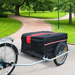 HOMCOM Transportanhänger Fahrradanhänger Lastenanhänger Fahrrad Anhänger Trailer