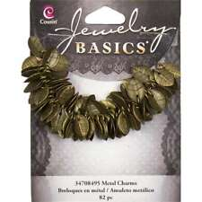 Jewelry Basics Metal Charms Gold Leaves 115/Pkg 016321087194