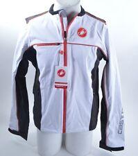 NWT CASTELLI 3L SELLA RAIN JACKET $220 White Black Red 3-Layer