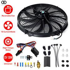 "16"" Universal 3000 CFM electric Radiator FanThermostat Wiring Switch Relay Kit"