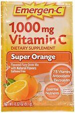 2 Pack Emergen-C Pink 1000 Mg Vitamin C Supplement Super Orange 30 Packets Each
