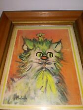New listing Vtg. Print Whimsical Cat/Mouse By Michelle