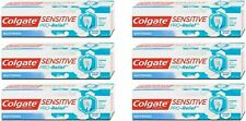 Colgate Sensitive Pro-Relief Whitening Toothpaste Stain Remover 6 pack of 75ml
