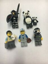 lego mystery minifigures (Knight, Panda, Paintballer, Baseball, Business Man)