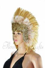 Wheat feather sequins las vegas dancer showgirl headpiece headdress