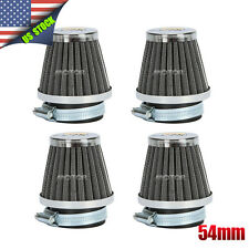 4pcs Universal Motorcycle 54MM Air Pod Filters For Honda Suzuki Yamaha Kawasaki