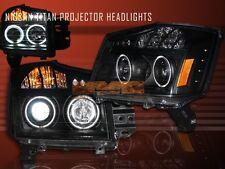 FIT 08-10 TITAN CCFL HALO BLK PROJECTOR HEAD LIGHTS LAMPS