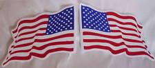 2 AUFKLEBER Sticker FLAGGE Flag USA Amerika wedelnd