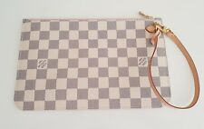 Original Louis Vuitton Pochette Damier Azur Rose Ballerine aus Neverfull NEU Bag