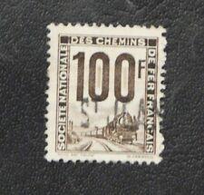 TIMBRES DE FRANCE : 1944/47 COLIS POSTAUX YVERT N° 22 Oblit. 100 FRS GRIS-BRUN