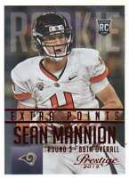 2015 Panini Prestige Rookies Extra Points Red RC #281 Sean Mannion Rams