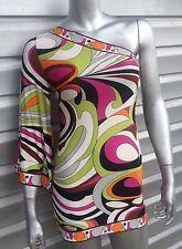 ANALILI Retro Gogo Print One Sleeve Tunic Top Mini Dress