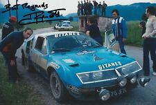 Jean Ragnotti Hand Signed Photo 12x8 Alpine-Renault Rally 1.