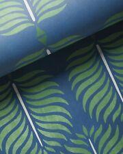 New Serena & Lily Granada Wallpaper - Blue Navy Green - Palm Leaf