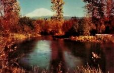 Vintage Postcard 76 Gasoline Union Oil Mount Adams Washington Unposted