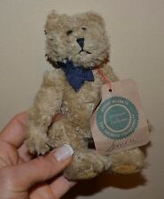 """The Boyds Collection 1990-93 Teddy Bear Jointed 6"""" Tan Bear with Tag"""