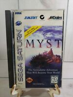 MYST Sega Saturn Game With Manual Case and Game Tested Working Case Damage Photo