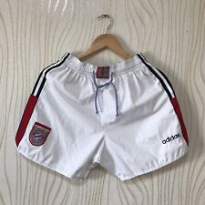BAYERN MUNICH VINTAGE FOOTBALL SOCCER SHORTS ADIDAS WHITE