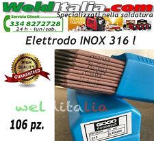 ELETTRODI ELETTRODO ACCIAIO INOX E 316 L DIAM. 2,5 X 300 MM. PACCO DA 106 PZ.