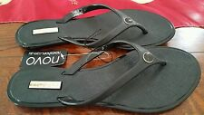 ♡♡♡NOVO KARLIE BLACK Thongs SIZE 9 BRAND NEW SUMMER SHOES