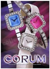 CORUM Sugar Cube ladies wrist watch advertisement FREE Post A4 size HQ print