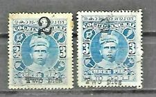 Indian Feudatory States  COCHIN Sc 34 and 34d SIGNE USED FVF
