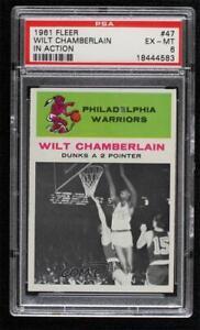 1961-62 Fleer Wilt Chamberlain #47 PSA 6 Rookie HOF