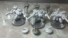 XV8 Crisis Battlesuit Team for Tau Empire Warhammer 40,000 40K USED T'au