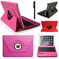360° Rotating Swivel Leather Case Cover with Bluetooth Keyboard for iPad 2 3 4