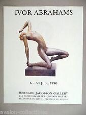 Ivor Abrahams Art Gallery Exhibit PRINT AD - 1990
